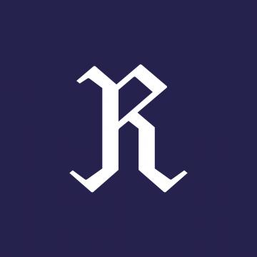 R-merkki sinisellä taustalla