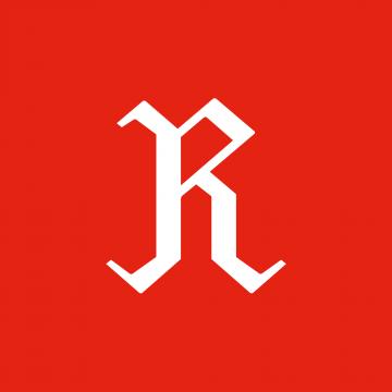 R-merkki punaisella taustalla